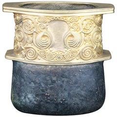 Gustav Gurschner Vase, Gilt and Patinated Bronze, Austria, Vienna, circa 1905