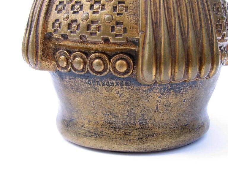Austrian Gustav Gurschner Vienna Secession Bronze Vase For Sale