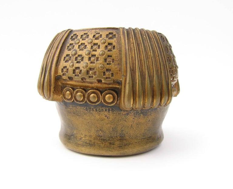 Gustav Gurschner Vienna Secession Bronze Vase In Excellent Condition For Sale In New York, NY