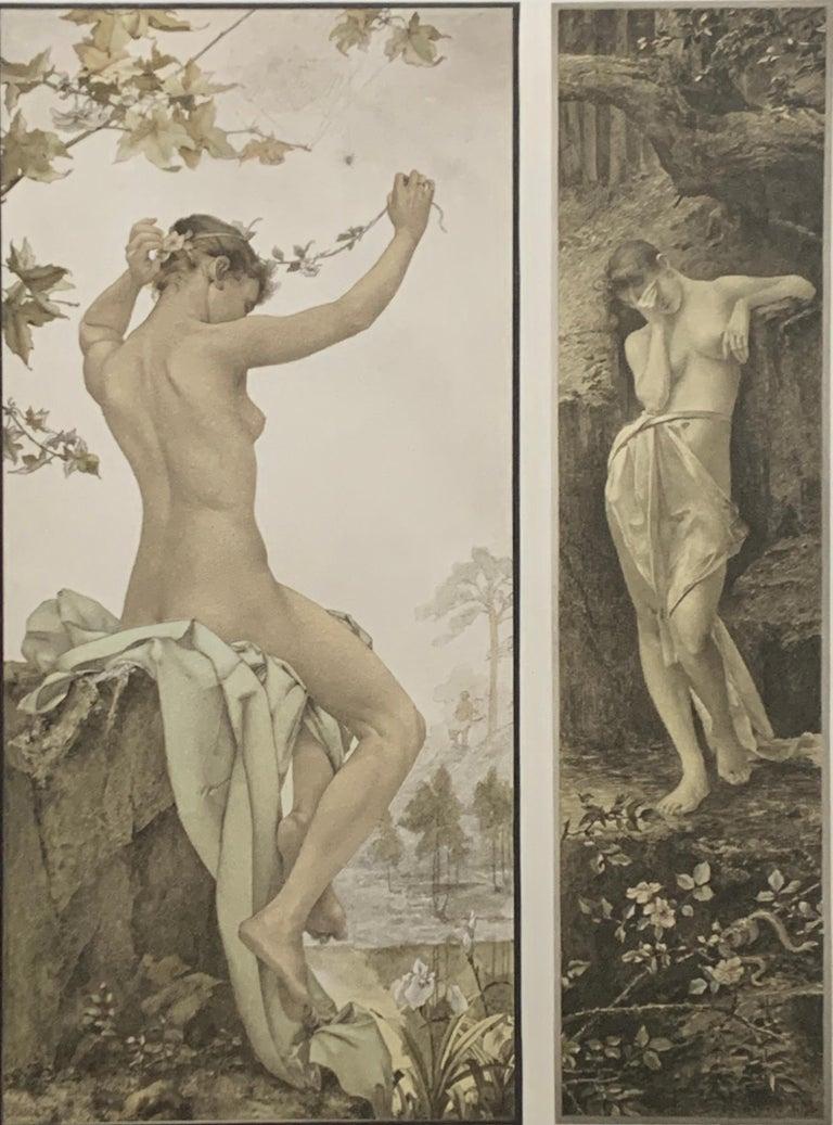 Allegorien, volumes 1-7 - Print by Gustav Klimt