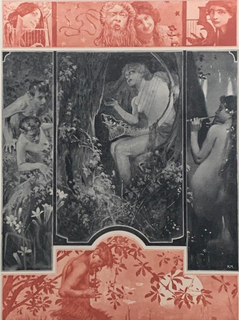 Allegorien, volumes 1-7 - Art Deco Print by Gustav Klimt