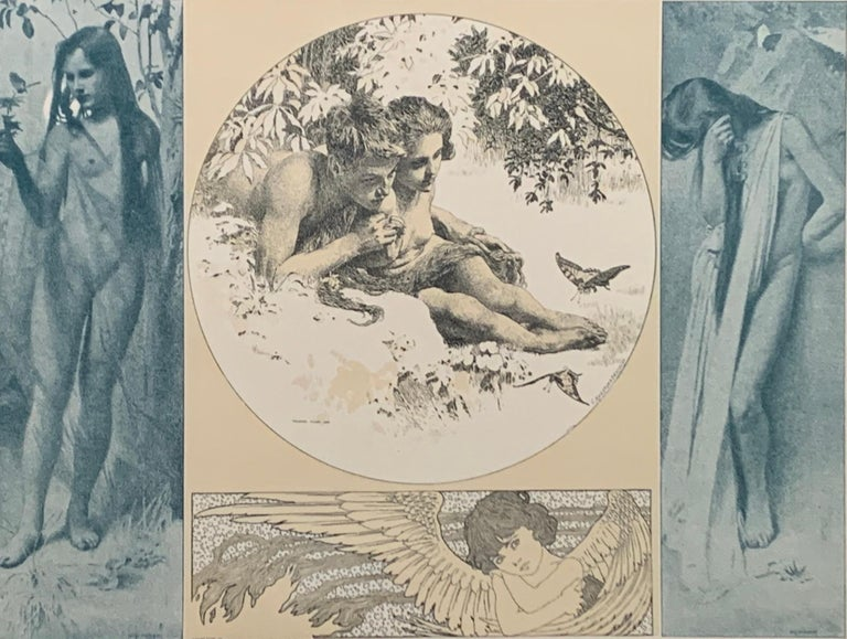 Allegorien, volumes 1-7 - Brown Figurative Print by Gustav Klimt