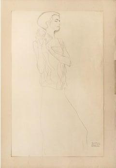 Sketch for a Frieze  - 1910s - Gustav Klimt - Lithograph - Modern Art