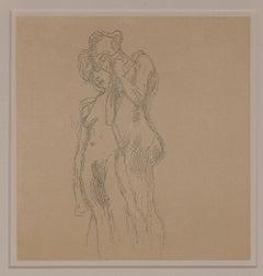 Sketch of Two Women, 6x6