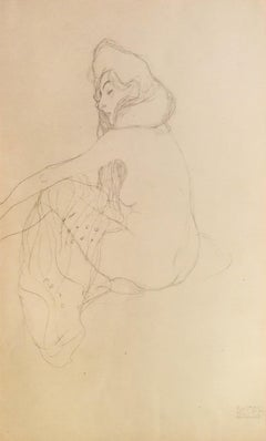 "Study on the ""Danae"" - 1910s - Gustav Klimt - Lithograph - Modern Art"