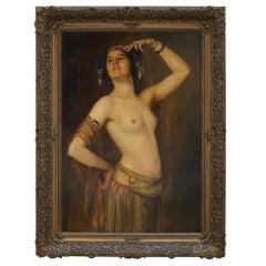 Gustav Rienäcker, an exotic oriental dancer (Mata Hari ), Germany, ca. 1900