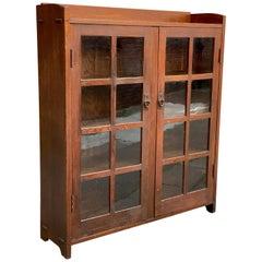 Gustav Stickley #717 Oak Double Door Bookcase