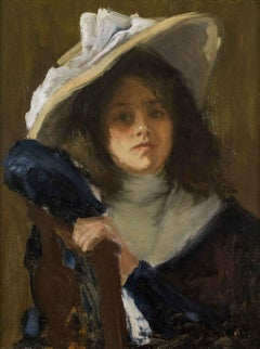 Daughter of the Artist, portrait by Gustave Wolff (1863-1935, German/American)