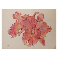 Untitled Floral Abstract Watercolor Painting