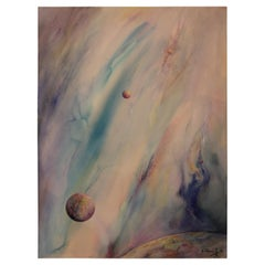 Untitled Watercolor Outer Space Abstract Painting
