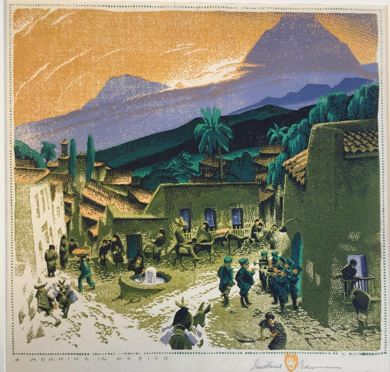 Gustave Baumann Landscape Print - MORNING IN MEXICO