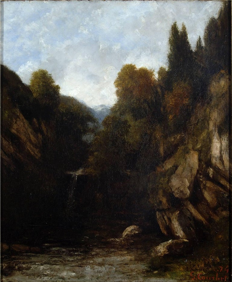 "Gustave Courbet ""Landscape"" 1874, Oil on Canvas Realism"