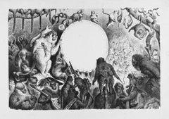 Le Caranaval des Singes - Original Woodcut by Gustave Doré - 1961