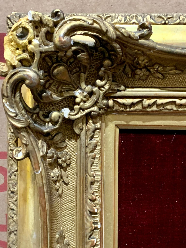 Portrait of a French 19th century lady in a gilt and ormolu hand made frame For Sale 3