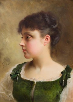 Portrait of a Young Girl in Green