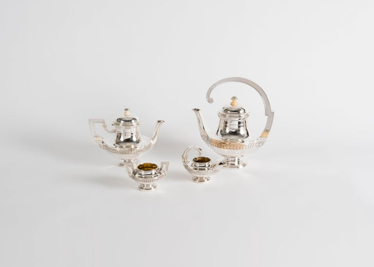 Gustave Keller, Tea Service, France, circa 1920s In Good Condition For Sale In New York, NY