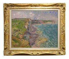 "Impressionist Seaside Landscape ""Cliffs at Yport"", by Gustave Loiseau"