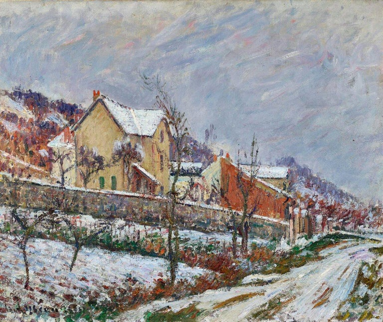La Neige en 1911 by Gustave Loiseau (1865-1935) Oil on canvas 54.5 x 65.5 cm (21 ¹/₂ x 25 ³/₄ inches) Signed and dated lower left G. Loiseau 1911 Executed in 1911  Provenance Galerie Rämi, Zurich  Private collection, Switzerland  Artist