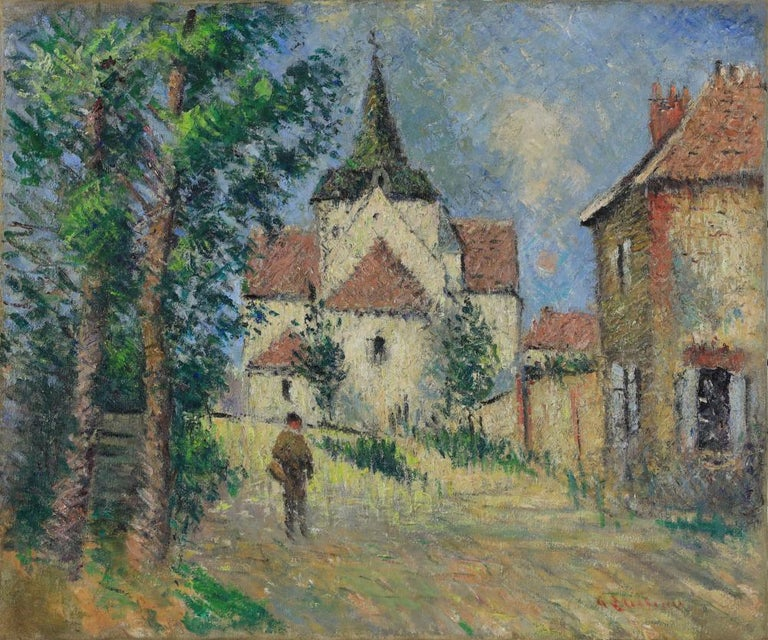 Oil painting by Post-Impressionist painter Gustave Loiseau - Painting by Gustave Loiseau