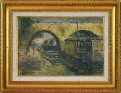 Pont Marie, Paris by GUSTAVE LOISEAU - Post-Impressionist, Oil, Paris, Bridge