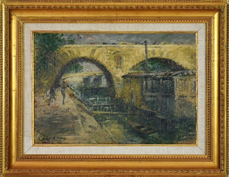 Gustave Loiseau Landscape Painting - Pont Marie, Paris by GUSTAVE LOISEAU - Post-Impressionist, Oil, Paris, Bridge