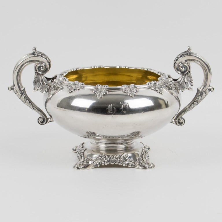 Gustave Odiot Paris 19th Century Sterling Silver Bowl For Sale 4