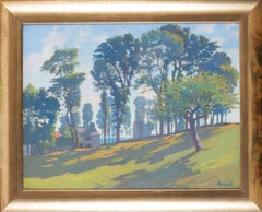 An Impressionist painting of trees in dappled sunlight by Swiss artist Poetzsch