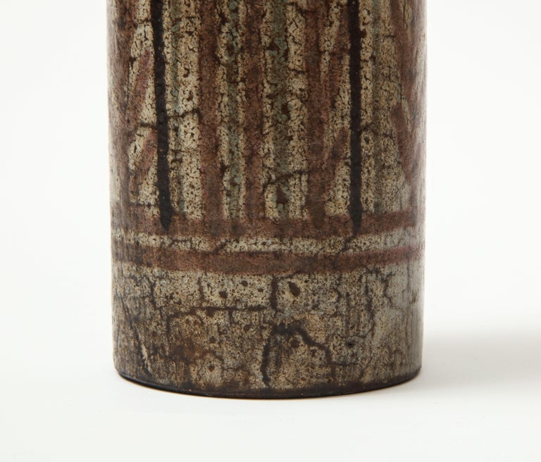 Gustave Raynaud Ceramic Mug, France, circa 1960 In Good Condition For Sale In New York City, NY