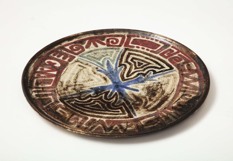 Mid-20th Century Gustave Raynaud Ceramic Platter, France, circa 1960s
