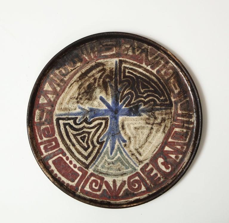 Gustave Raynaud Ceramic Platter, France, circa 1960s 3