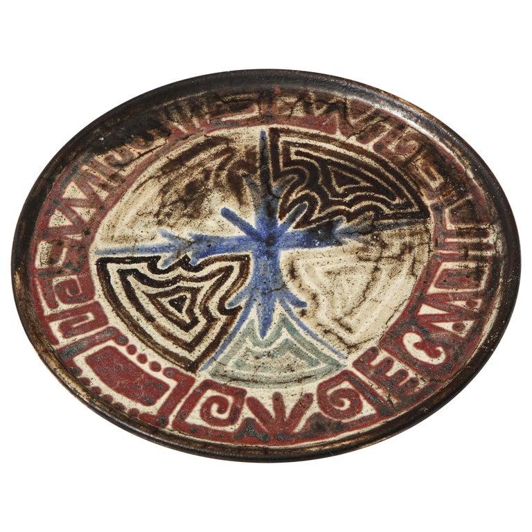 Gustave Raynaud Ceramic Platter, France, circa 1960s