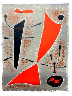 Gustave Singier - Abstract Fish - Original Lithograph
