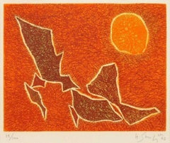 Untitled - Original lithograph by G. Singier - 1963