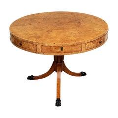 Gustavian 1820 Round Birchwood and Birchroot Empire Center Table, Sweden