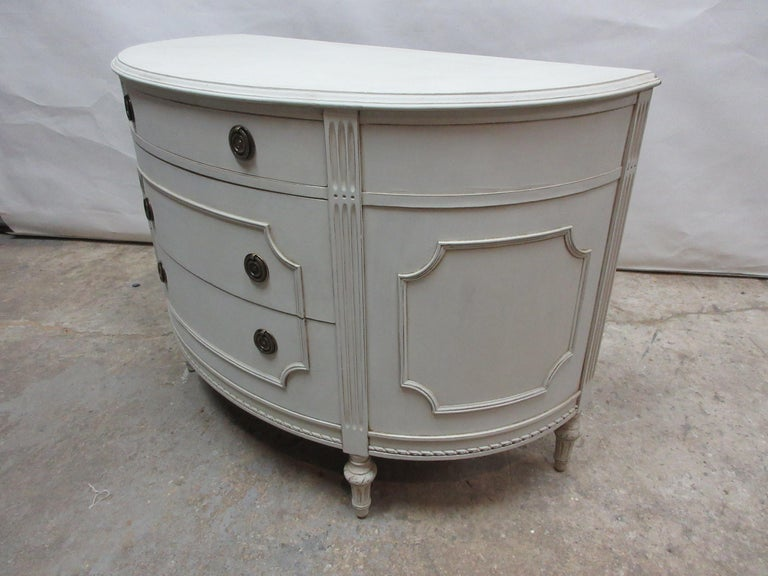 Early 20th Century Gustavian Barrel Front Chest For Sale