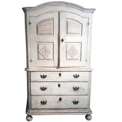 Gustavian Cabinet, Origin Sweden, 18th Century