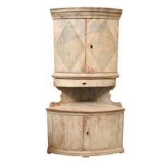 Gustavian Corner Cabinet