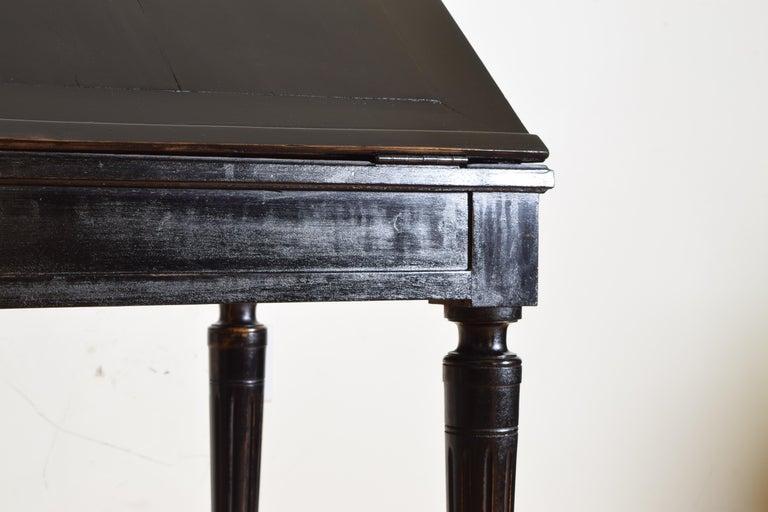 Gustavian Ebonized Cherrywood Slant-Front Desk, 18th Century For Sale 7