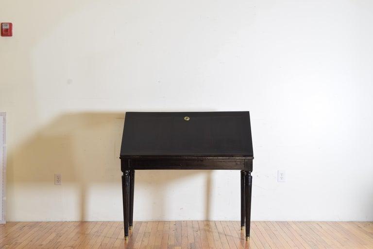 Gustavian Ebonized Cherrywood Slant-Front Desk, 18th Century In Good Condition For Sale In Atlanta, GA