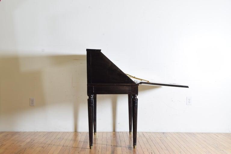 Gustavian Ebonized Cherrywood Slant-Front Desk, 18th Century For Sale 2