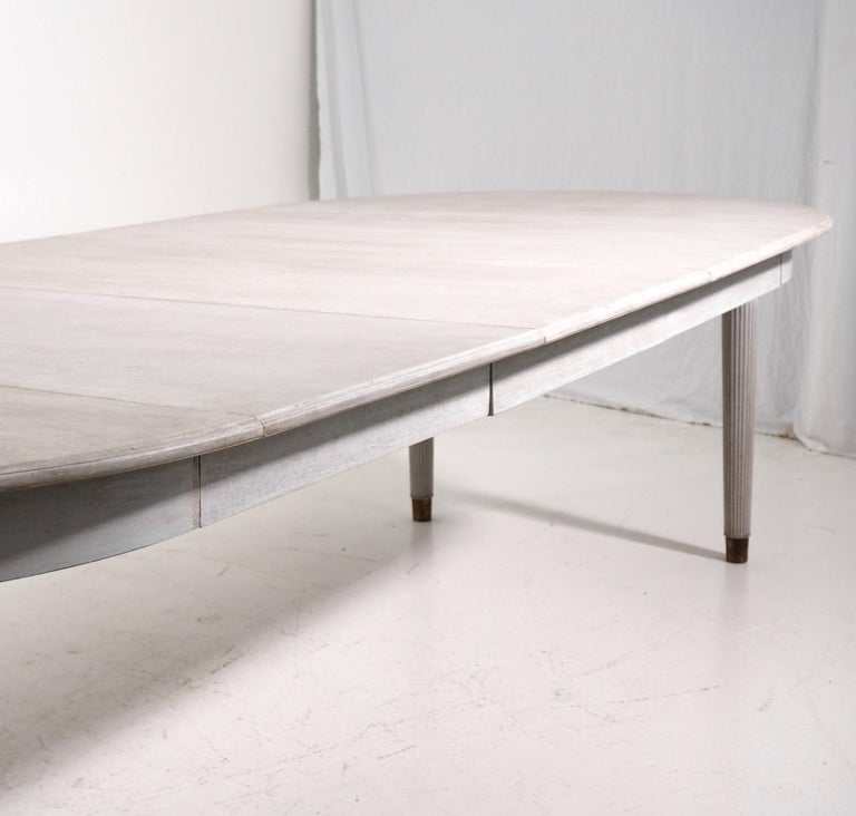 Gustavian Extension Table, 20th Century In Good Condition In Aalsgaarde, DK