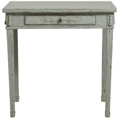 Gustavian Freestanding Console Table with One Drawer, circa 1830
