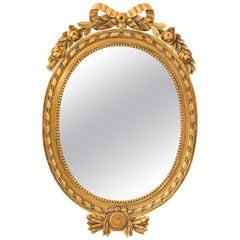 Gustavian Giltwood Mirror, circa 1970s