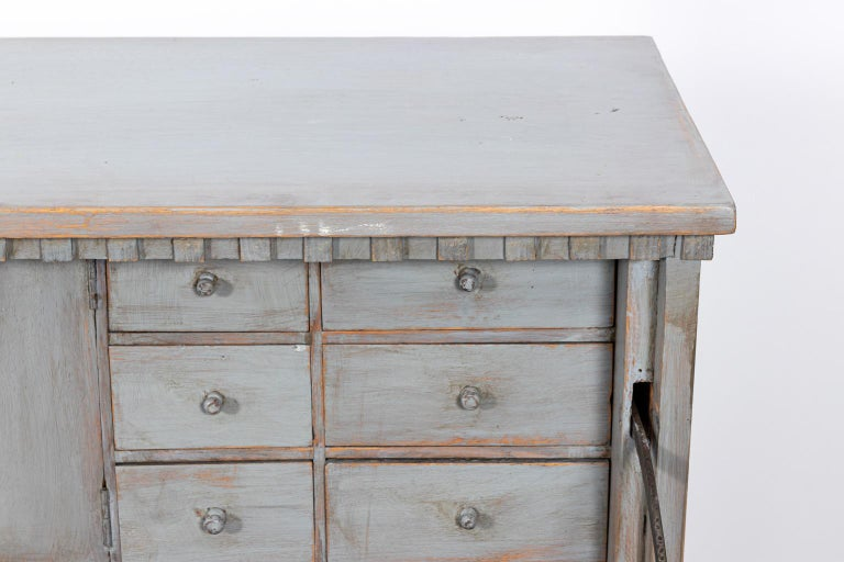 Gustavian Gray Painted Writing Bureau In Good Condition For Sale In Stamford, CT