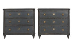 Gustavian Grey Painted Commode