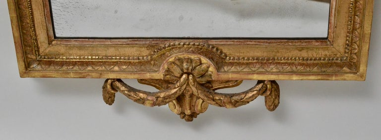 Carved Gustavian Mirror, Giltwood, 18th Century For Sale