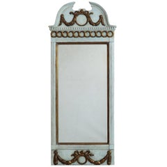 Gustavian Mirror with Original Guilt, Original Glass, circa 1780