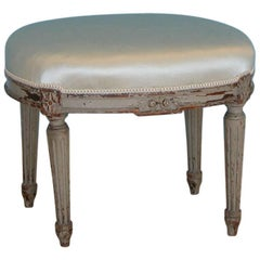 Gustavian Oval Stool, Origin, Sweden, circa 1800