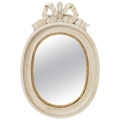 Gustavian Painted Oval Mirror
