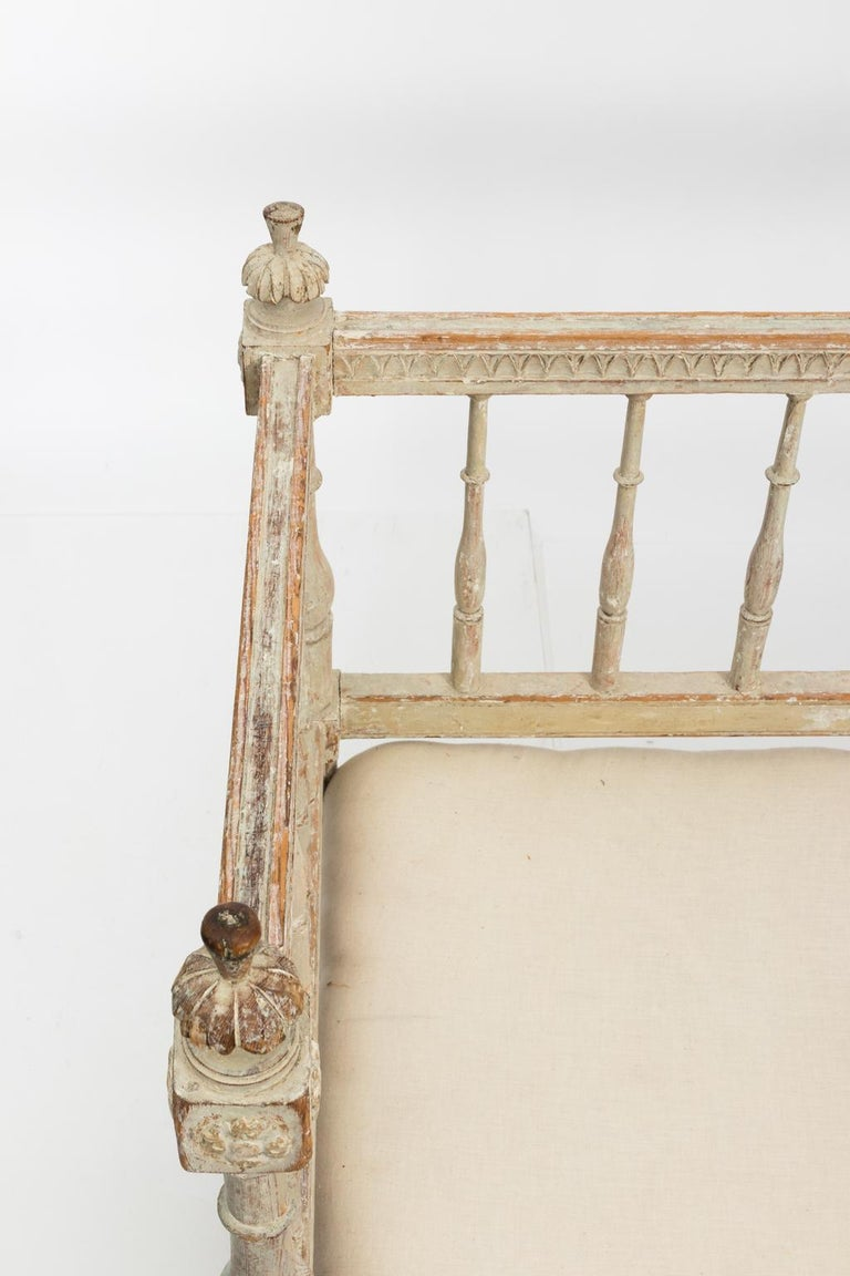 Gustavian Painted Sofa, circa 1790s For Sale 7